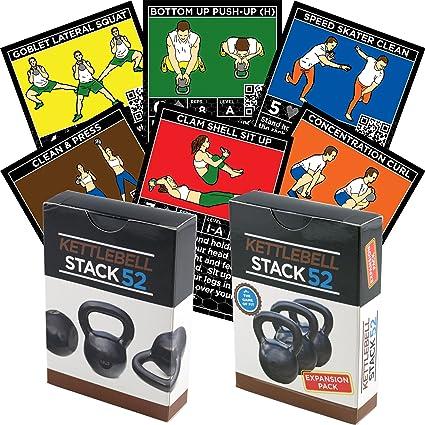 Kettlebell ejercicio tarjetas por Stack 52.