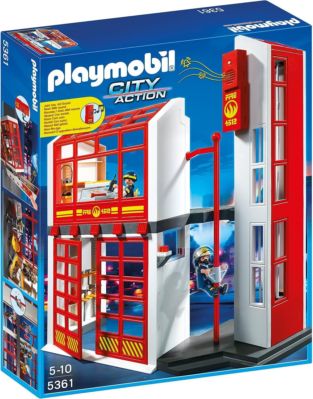 Feuerwehrstation Holz - Playmobil Feuerwehrstation