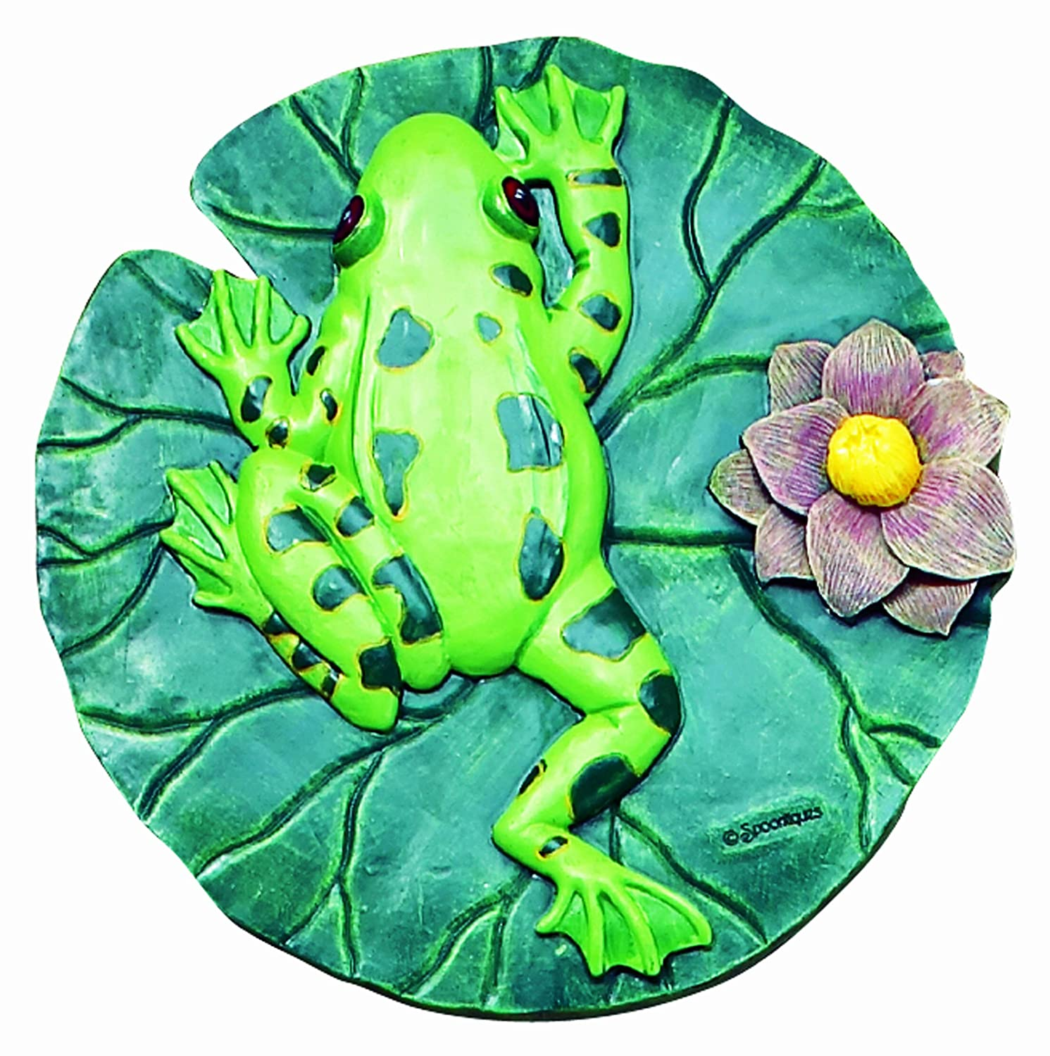 Amazon.com : Spoontiques Frog Stepping Stone : Outdoor Decorative ...