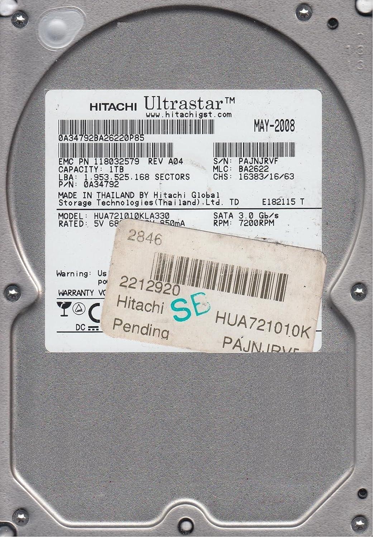 PN 0A34792 MLC BA2622 HUA721010KLA330 Hitachi 1TB SATA 3.5 Hard Drive