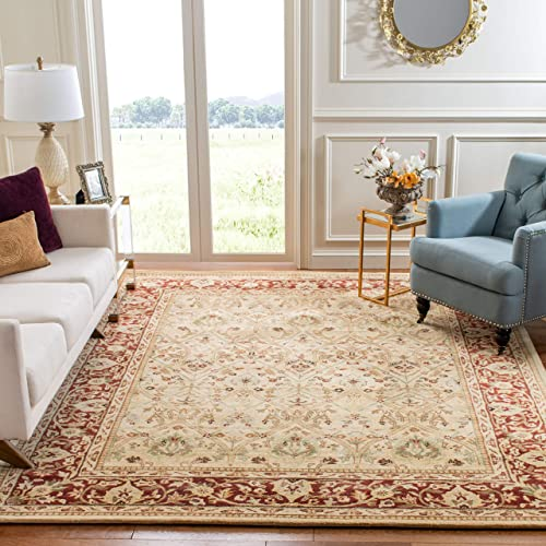Safavieh Persian Legend Collection PL819D Handmade Traditional Ivory and Rust Wool Area Rug 8'3″ x 11'