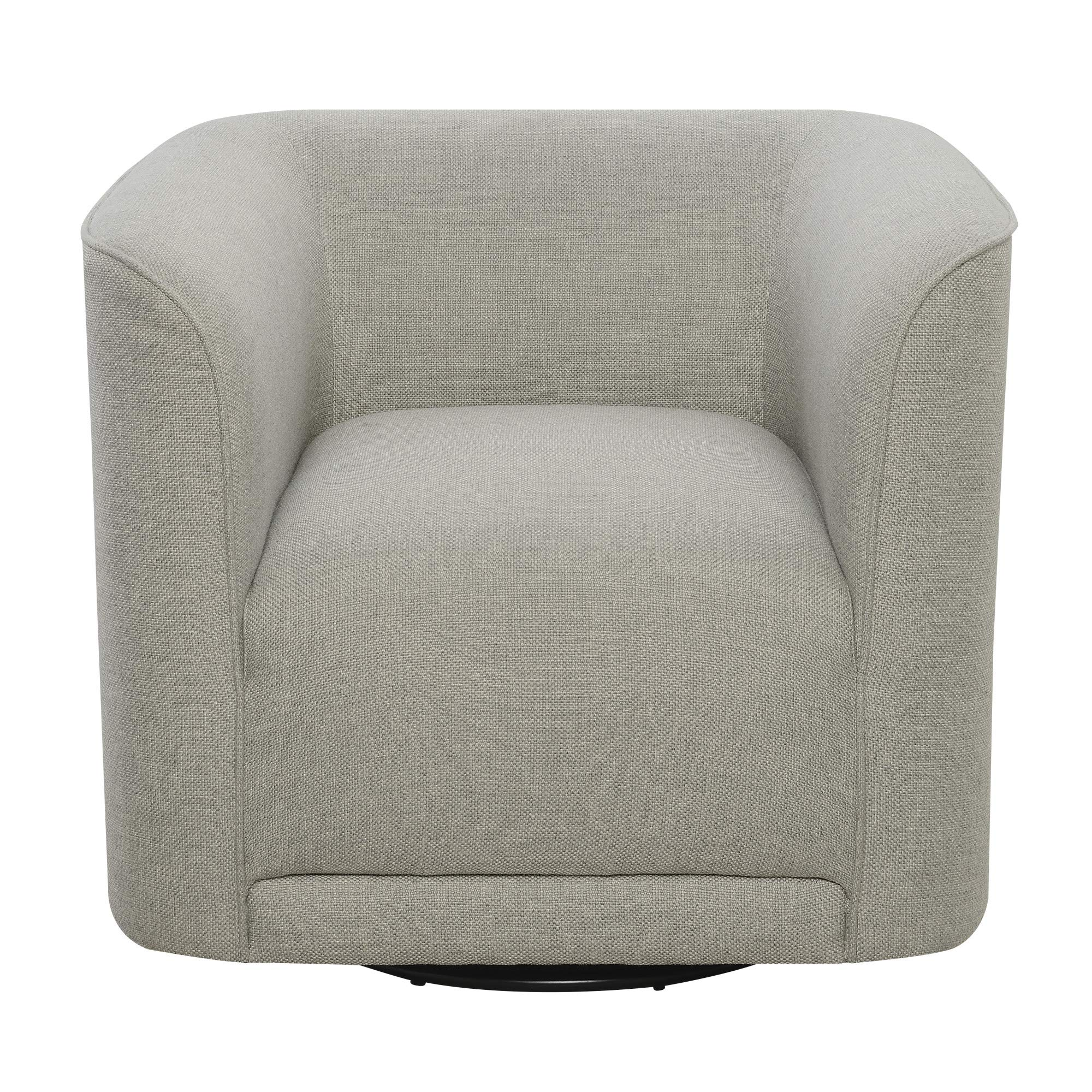 Juno Swivel Accent Chair in London Fog with 360° Swivel And U Shape, by Artum Hill