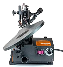 Table tilt of WEN 3920 16-inch Variable Speed Scroll Saw With Flexible LED Light
