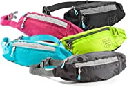 Fanny Packs for Women - Slim Yet Spacious Waist Pack w/ Multiple Compartments and Headphone Cord Access - Lightweight Fannie