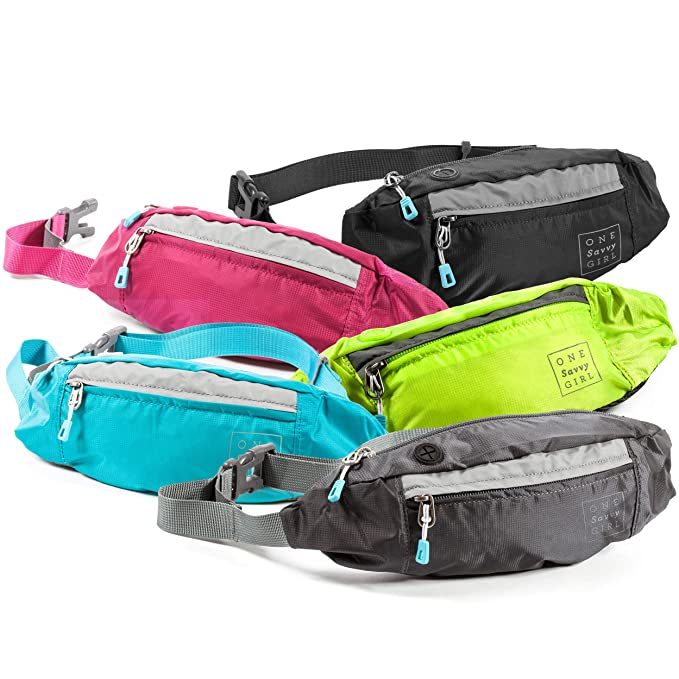 Fanny Packs for Women - Slim Yet Spacious Waist Pack w/ Multiple Compartments and Headphone Cord Access - Lightweight Fannie Hip Bag Great for Hiking, Walking, Biking, Running, Travel, & More best women's fanny packs