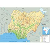 Zambia Political Map Paper Laminated A1 Size 594 x 841 cm
