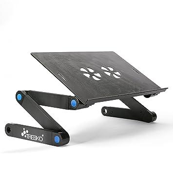 TRESKO® Mesa de Ordenador portátil Plegable Soporte de portátil Negro