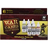 Vallejo Model Color Set - WWII Wargames - US Paint Set (x6) - VAL70160
