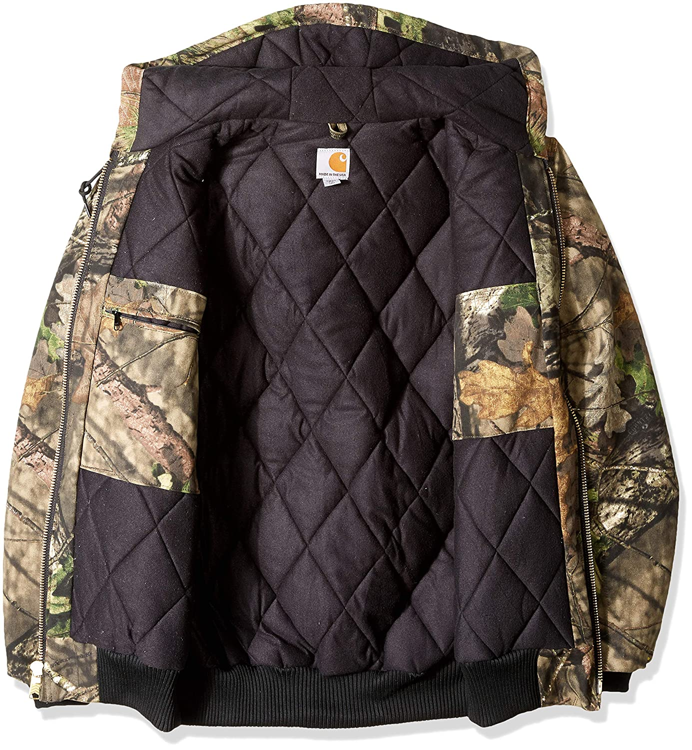 eb104e5736f09 Carhartt Mens Big & Tall Quilted Flannel Lined Camo Active Jac J221BT  Jackets & Coats