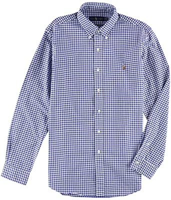 70d3dd360ebb RALPH LAUREN Polo Men s Long-Sleeve Classic Fit Gingham Oxford Shirt at  Amazon Men s Clothing store