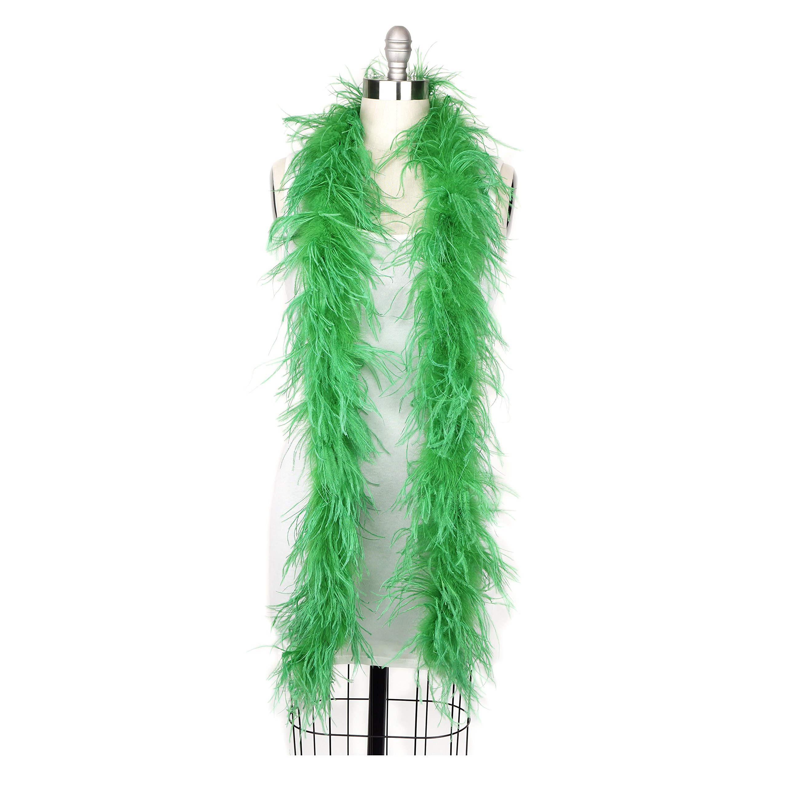 Zucker Feather Products Ostrich 2-Ply Boa For Decoration, Kelly Green