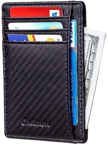 Amazon.com: Chelmon - Cartera delgada RFID con bolsillo ...