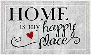 product image for Apache Mills BLE5 Fashionables Deluxe Home is My Happy Place Door Mat, 18-Inch X 30-Inch, Gray
