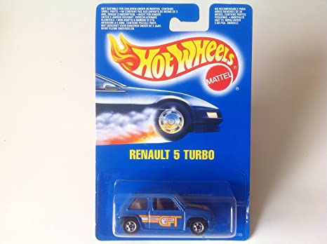 Hot Wheels Renault 5 Turbo Blue #9749 Euro Card