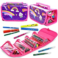 GirlZone Arts and Crafts Fruit Scented Markers and Pencil Case For Girls, Great Gifts For Girls