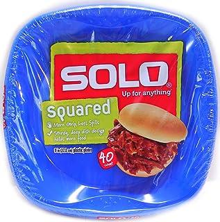 Solo Squared 9  Plastic Plates 40 CT - Blue  sc 1 st  Amazon.com & Amazon.com: Solo Cup Solo Squared Plastic Plates 9