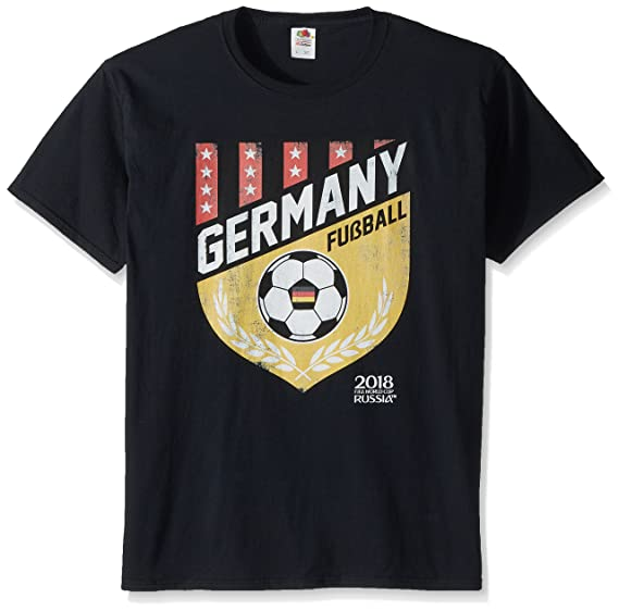 ee7b6d2f9 Amazon.com  FIFA Men s Russia 2018 Country Crest Tees  Clothing