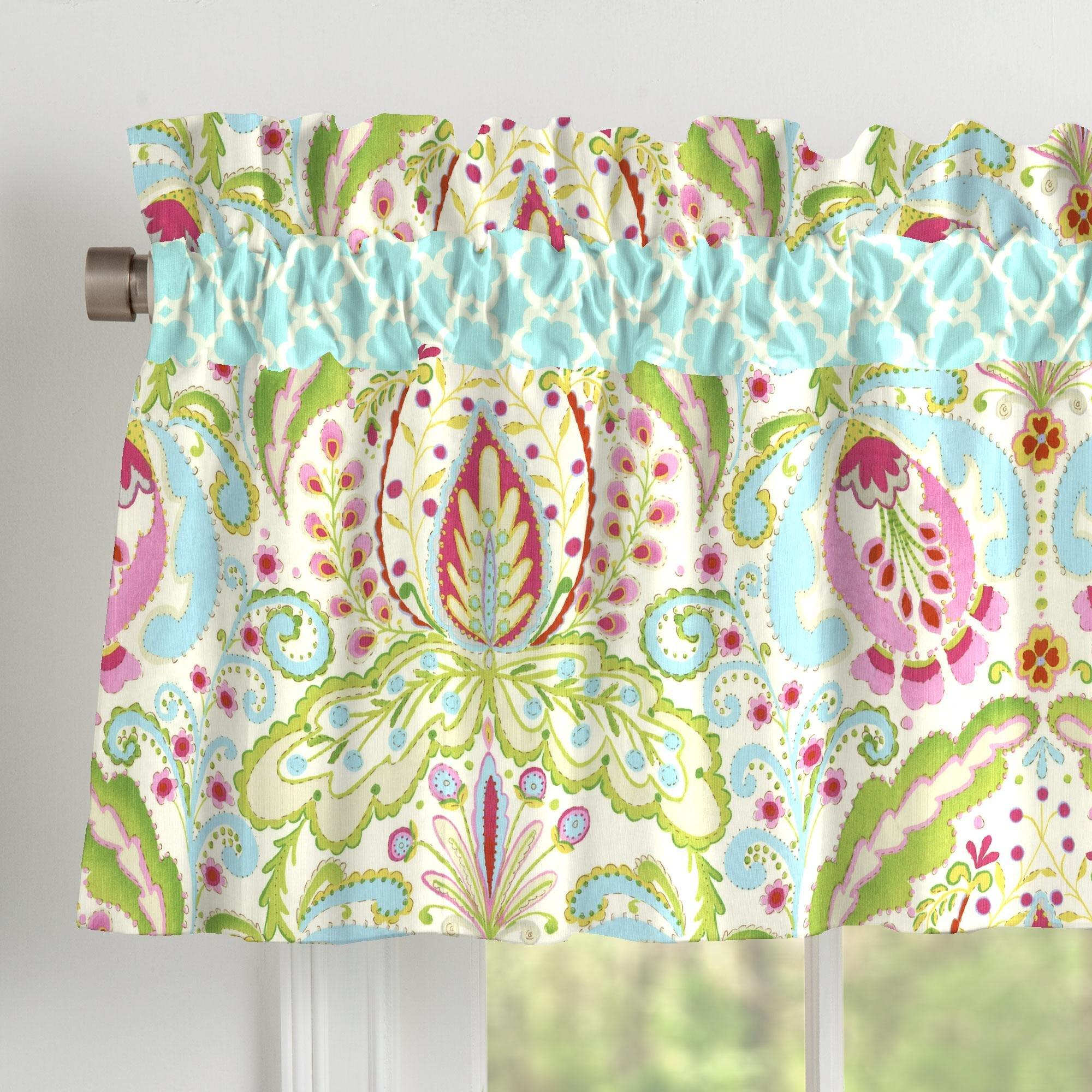 Carousel Designs Kumari Garden Window Valance Rod Pocket by Carousel Designs