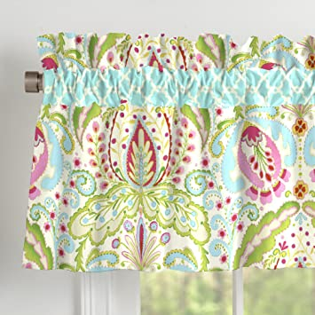 Carousel Designs Kumari Garden Window Valance Rod Pocket