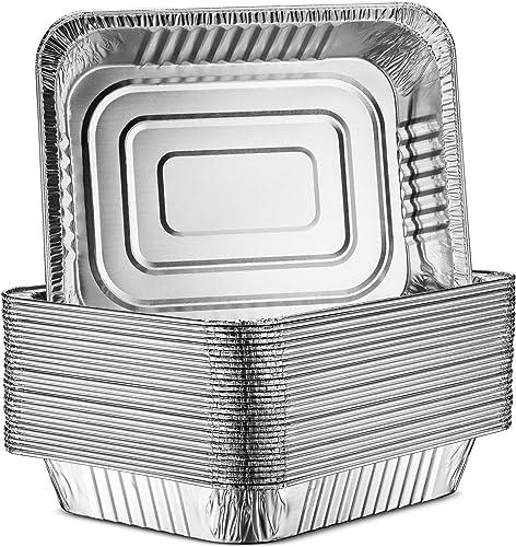 MontoPack 30-Pack Aluminum Half-Size Roasting Pans
