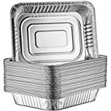 "30-Pack Aluminum Half-Size Roasting Pans - Super-Thick 9x13"" Standard Size Chafing Pans Tins - Eco-Friendly Recyclable Alumin"