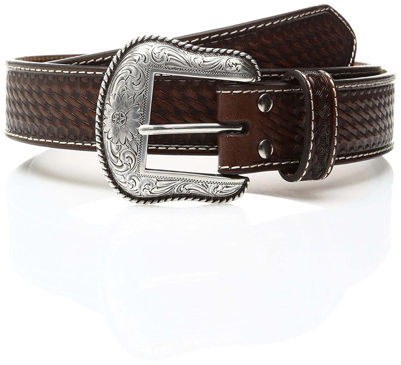 Nocona Belt Co Men/'s Nocona Croc Print Billet Inlay Belt
