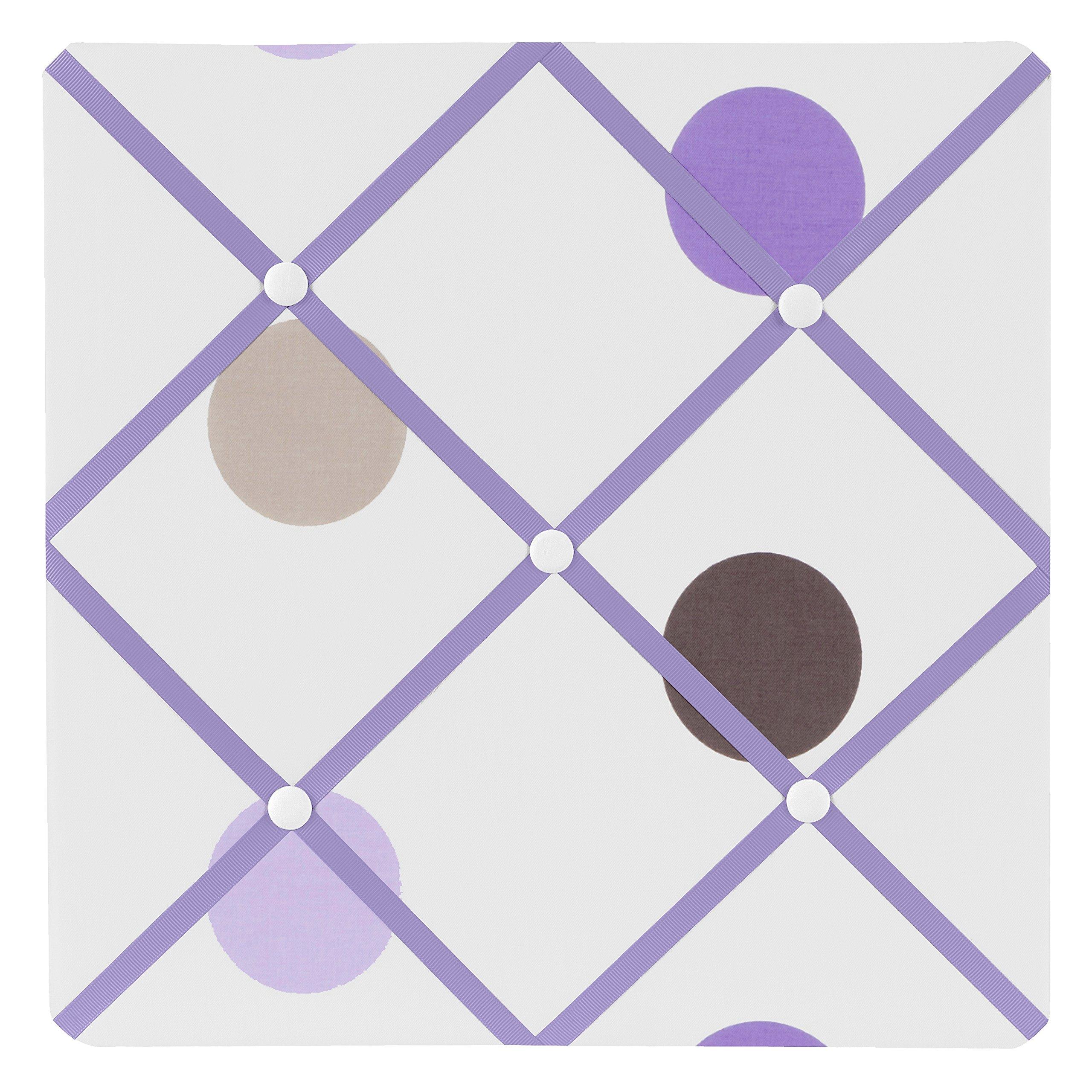 Sweet Jojo Designs Purple and Brown Mod Dots Fabric Memory/Memo Photo Bulletin Board
