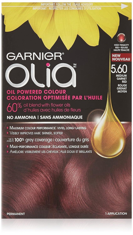 Garnier olia permanent hair colour golden brown 5 3 - Garnier Olia Hair Color In 5 60 Medium Garnet Red Ammonia Free Oil Powered 3x Shine Amazon Ca Beauty