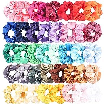 28 Pieces Hair Scrunchies Elastics Velvet Scrunchies Set Hair Bands Scrunchies