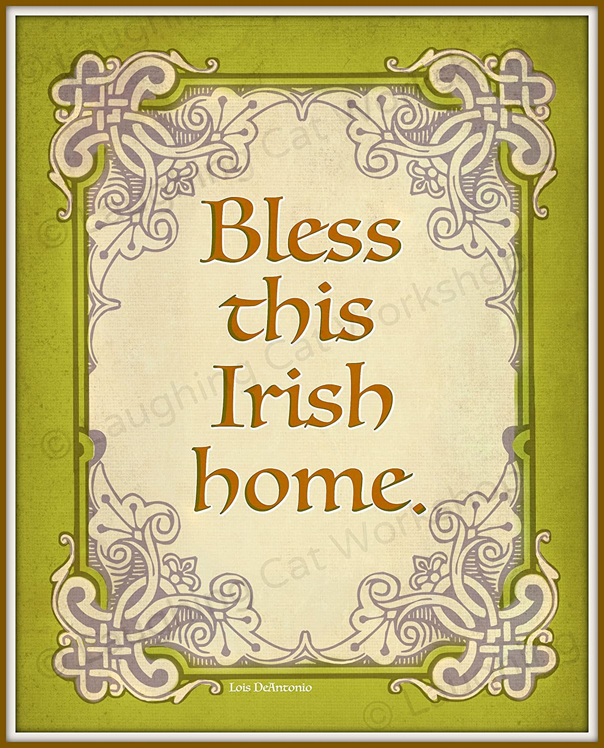 Amazon.com: Bless this Irish Home decor Irish art God Blessing Irish ...