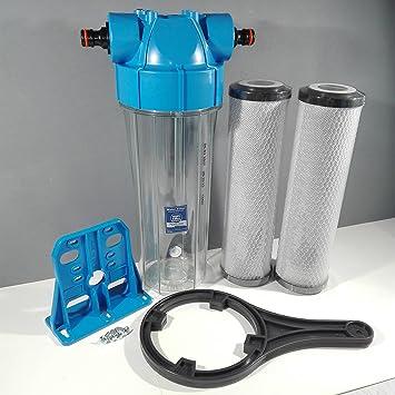 Koi estanque filtro de agua para estanque de peces eliminación de cloro dechlorinator 2 filtros: Amazon.es: Jardín