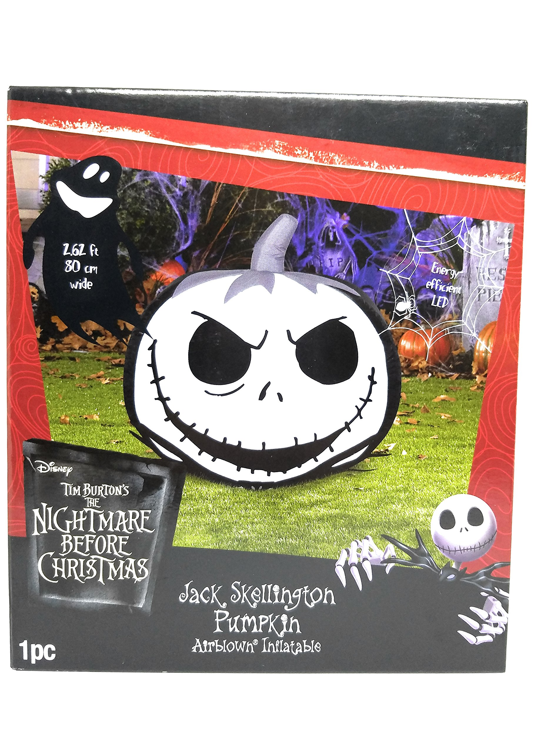 Jack Skellington Pumpkin Airblown Inflatable