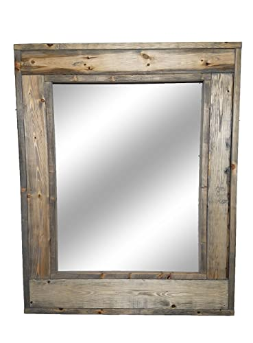 Amazon.com: Herringbone Large Framed Mirror Offered in 3 Sized and ...