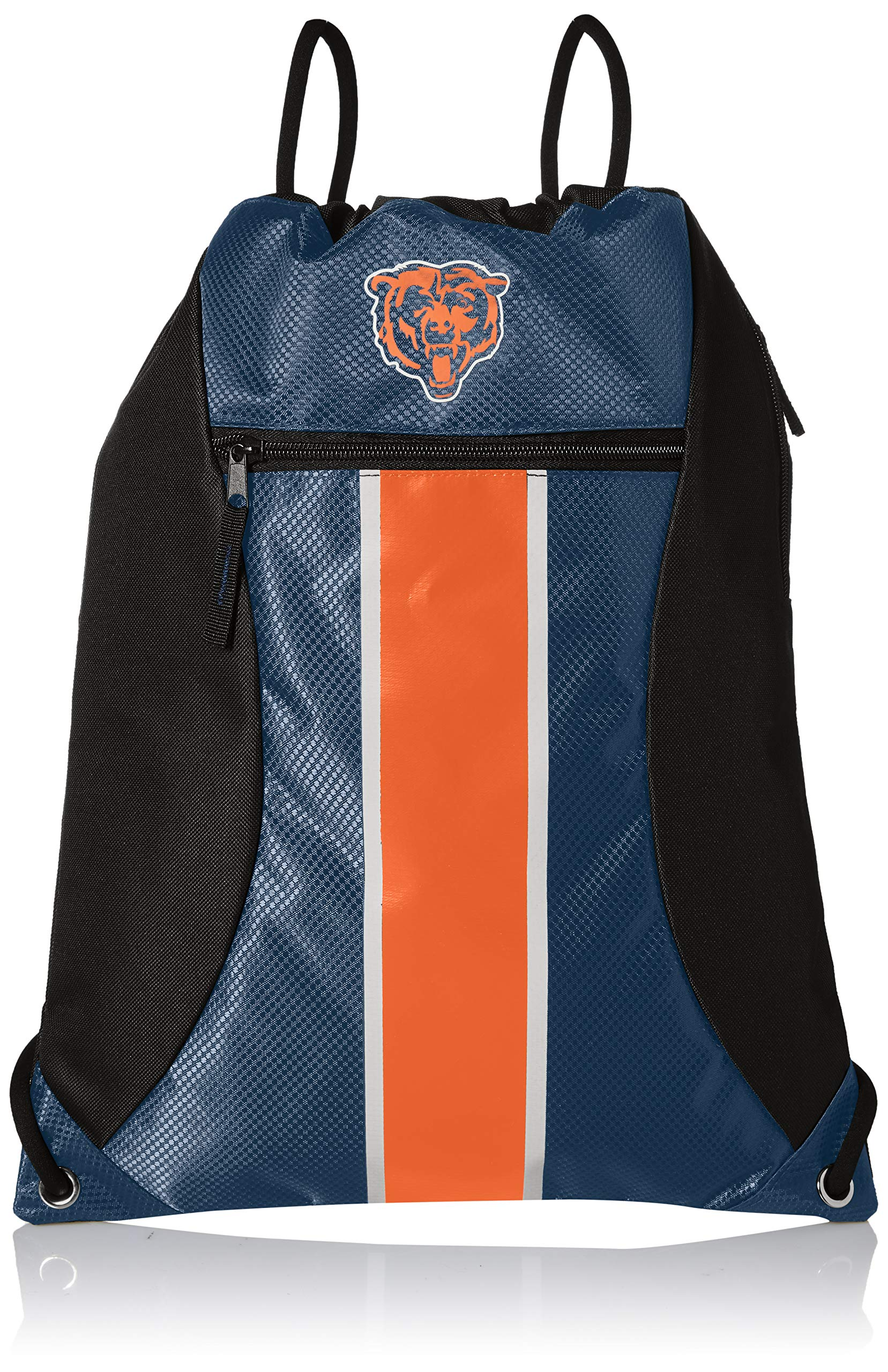 Chicago Bears Big Stripe Zipper Drawstring Backpack
