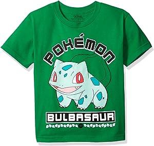 02e8e5e3 Amazon.com: Pokemon Big Boys Pokemon Ball Short Sleeve Tee, Silver ...