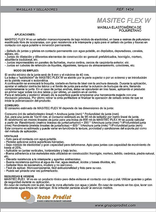 MASITEC FLEX W 600ml de Tecno Prodist - Sellador de poliuretano ...