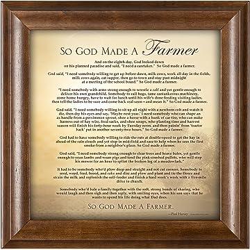 Amazoncom P Graham Dunn So God Made A Farmer Sunset 18 X 11 Inch