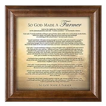Amazoncom So God Made A Farmer Full Poem Version 12 X 12 Framed
