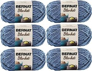 Bernat Blanket Yarn (6-Pack) Super Bulky #6 5.3 oz 108 Yds ea (Country Blue/106)