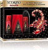 Scorpio SCORPIO - Coffret 3 produits - Rouge - Eau de toilette flacon 75ml , Gel Douche 250ml &  Dédodorant atomiseur 150ml