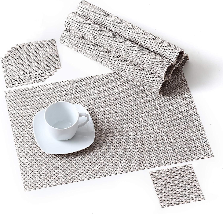 CS Beauty Chemin de Table Lavable en PVC Isolant Thermique pour Cuisine Blanc cass/é Buffet 30x225cm 30 x 225 cm d/îner f/ête 3 Couleurs au Choix