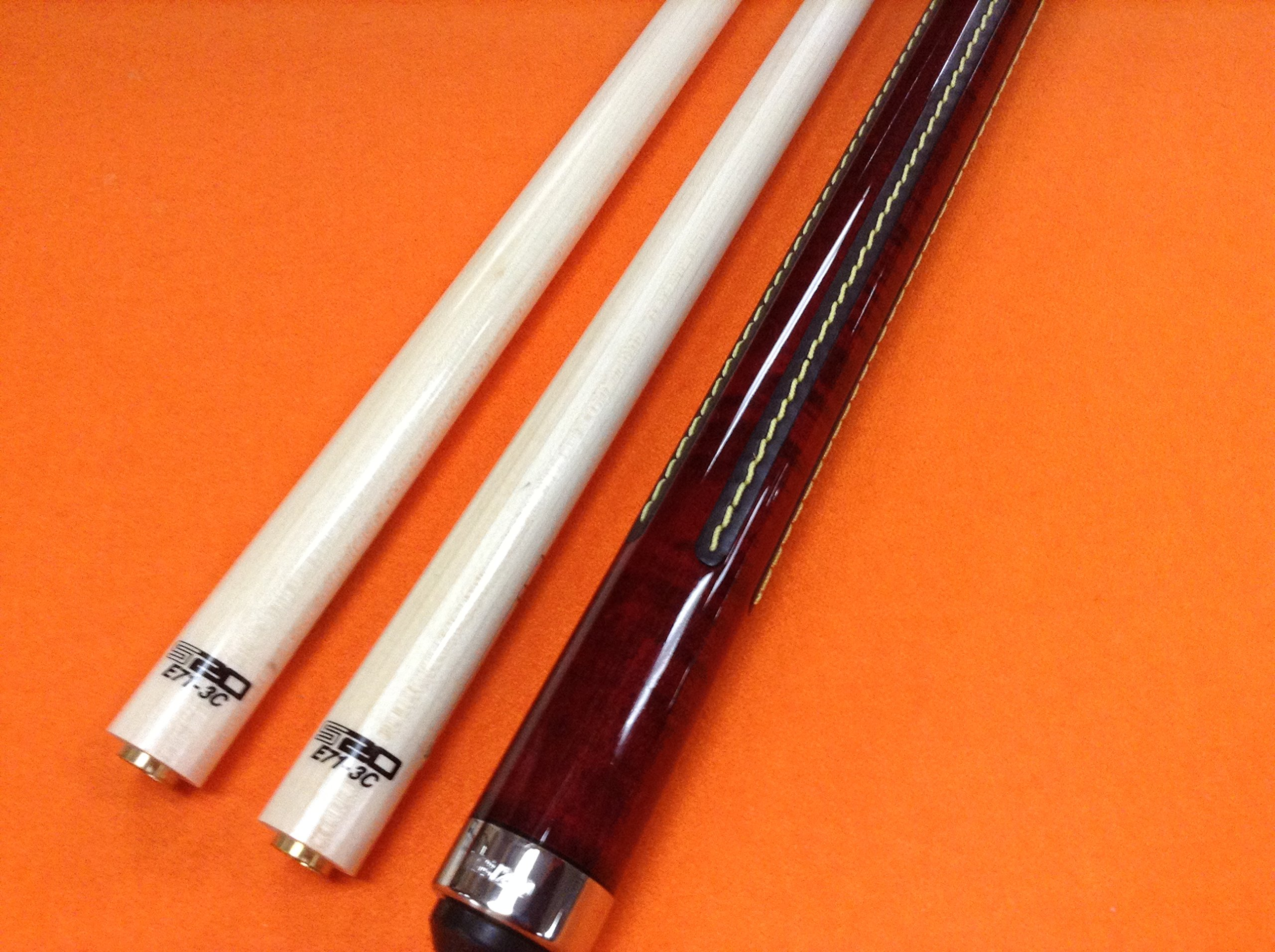 LONGONI CAROM CUE CREMONA GRANATA WITH TWO S20 SHAFTS (limited edition)