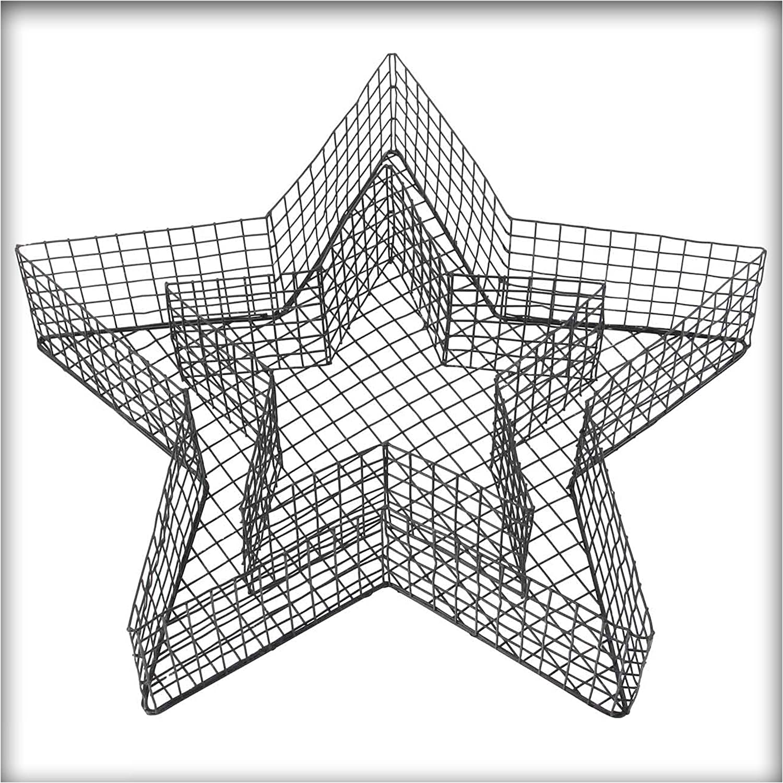 Kiesk/önig Stern Gitter Pflanzschale 8 cm Hoch Grabschmuck Grabgestaltung mit Steinen