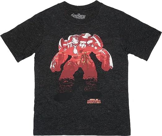 Tenacitee Boys Youth American Heroes T-Shirt Charcoal Small