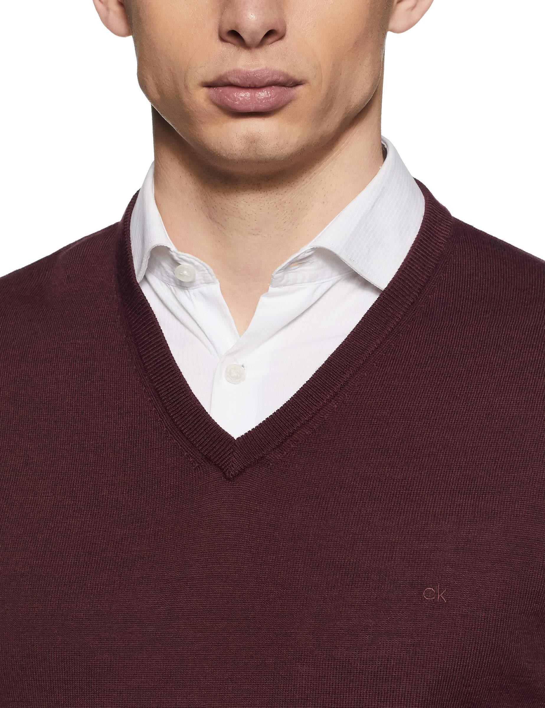 Calvin Klein Men's Merino Sweater V-Neck Solid