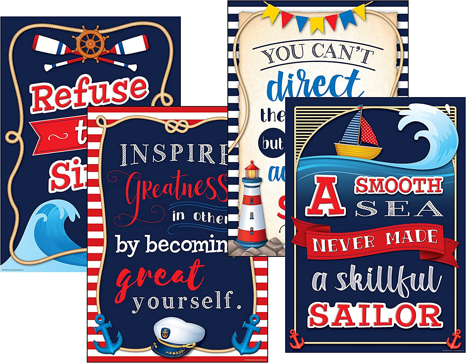 Teacher Created Resources Nautical Positive Posters Pack (6885)