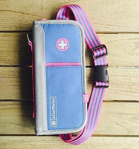 Allermates Pink Blue Supreme Epipen and Medicine Carrying Case