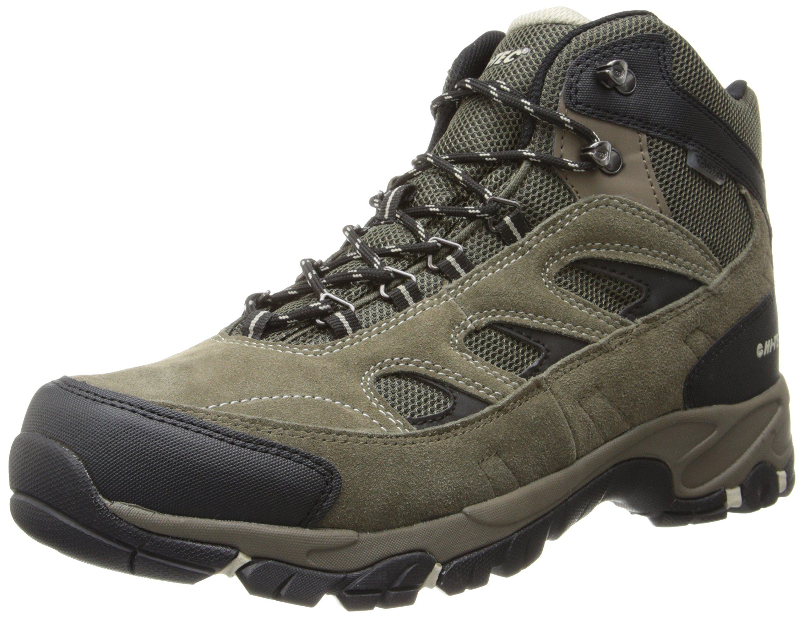 Hi-Tec Men's Logan Waterproof Hiking Boot,Smokey Brown/Olive/Snow,9 M US