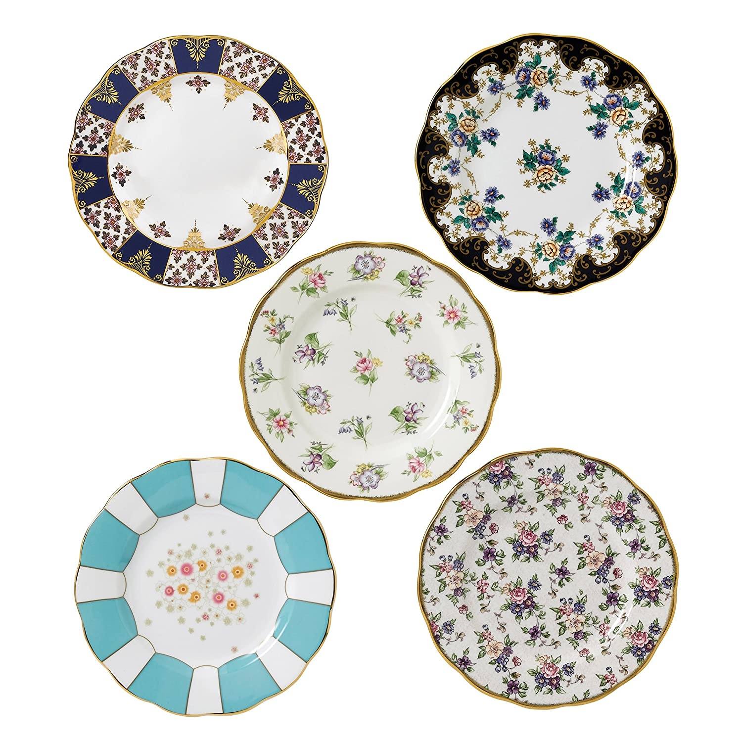 100 Years by Royal Albert 1900-1940 Plate 20cm/8in, Set of 5 Royal Doulton 40017560