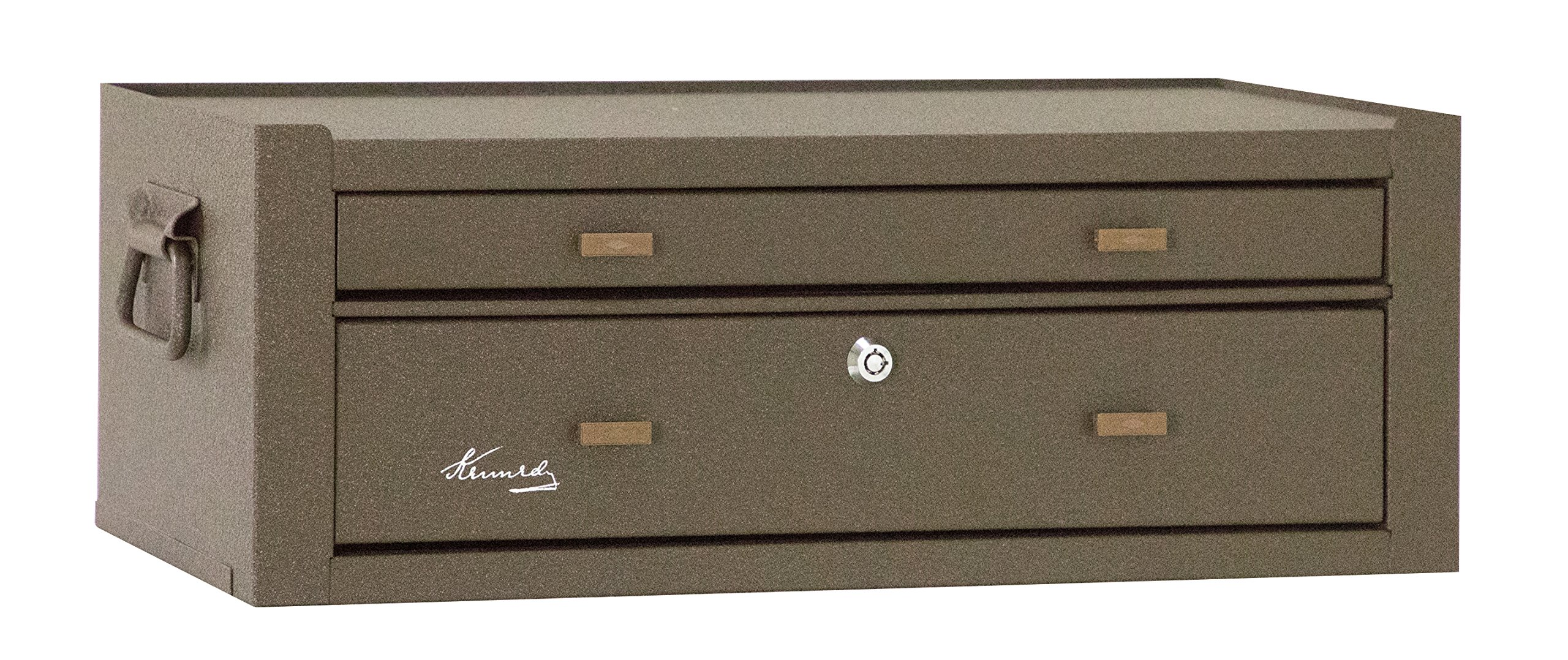 Kennedy Manufacturing MC22B 2-Drawer Machinist's Steel Tool Storage Chest Base with Friction Slides, 21'', Brown Wrinkle by Kennedy Manufacturing (Image #2)